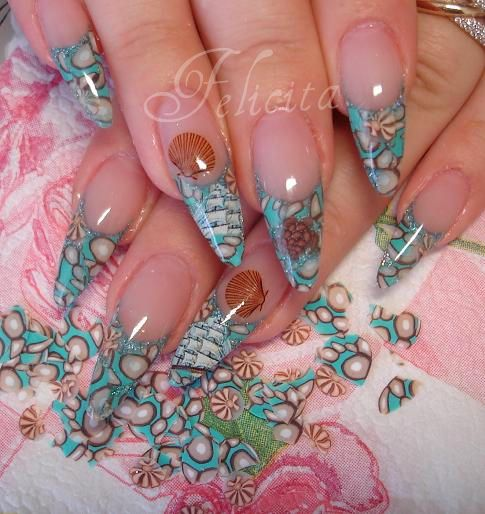 Нарощенные ногти фимо 15