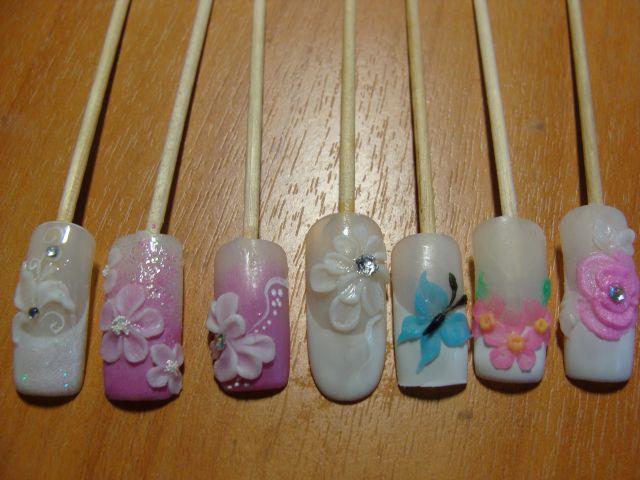 3д дизайн ногтей фото