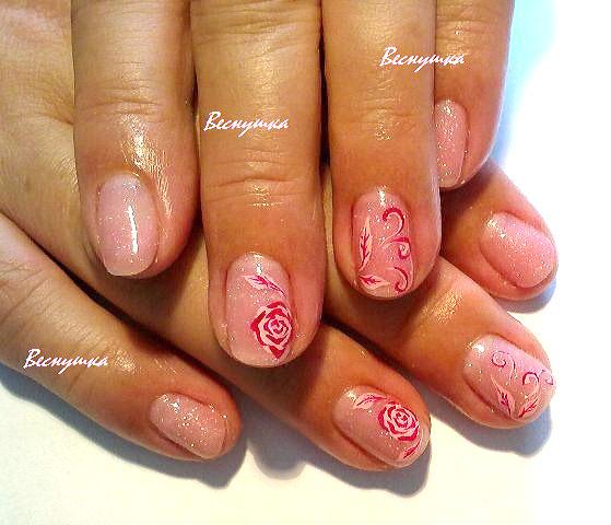Биогель маникюр на короткие ногти